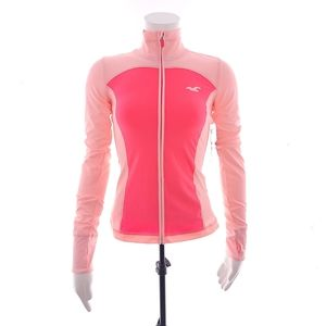 Hollister Sport XS Womens Neon Pink Full Zip NWT